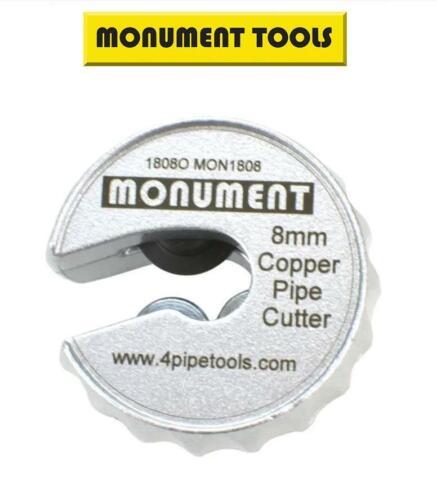 Monument 8 Mm Tuyau Cuivre Tube Slice RAPIDE automatique compact Cutter /& Roue 1808O