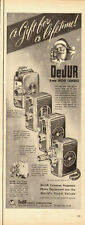 1950 vintage Christmas Ad, DeJur 8mm home movie cameras, projectors-101013