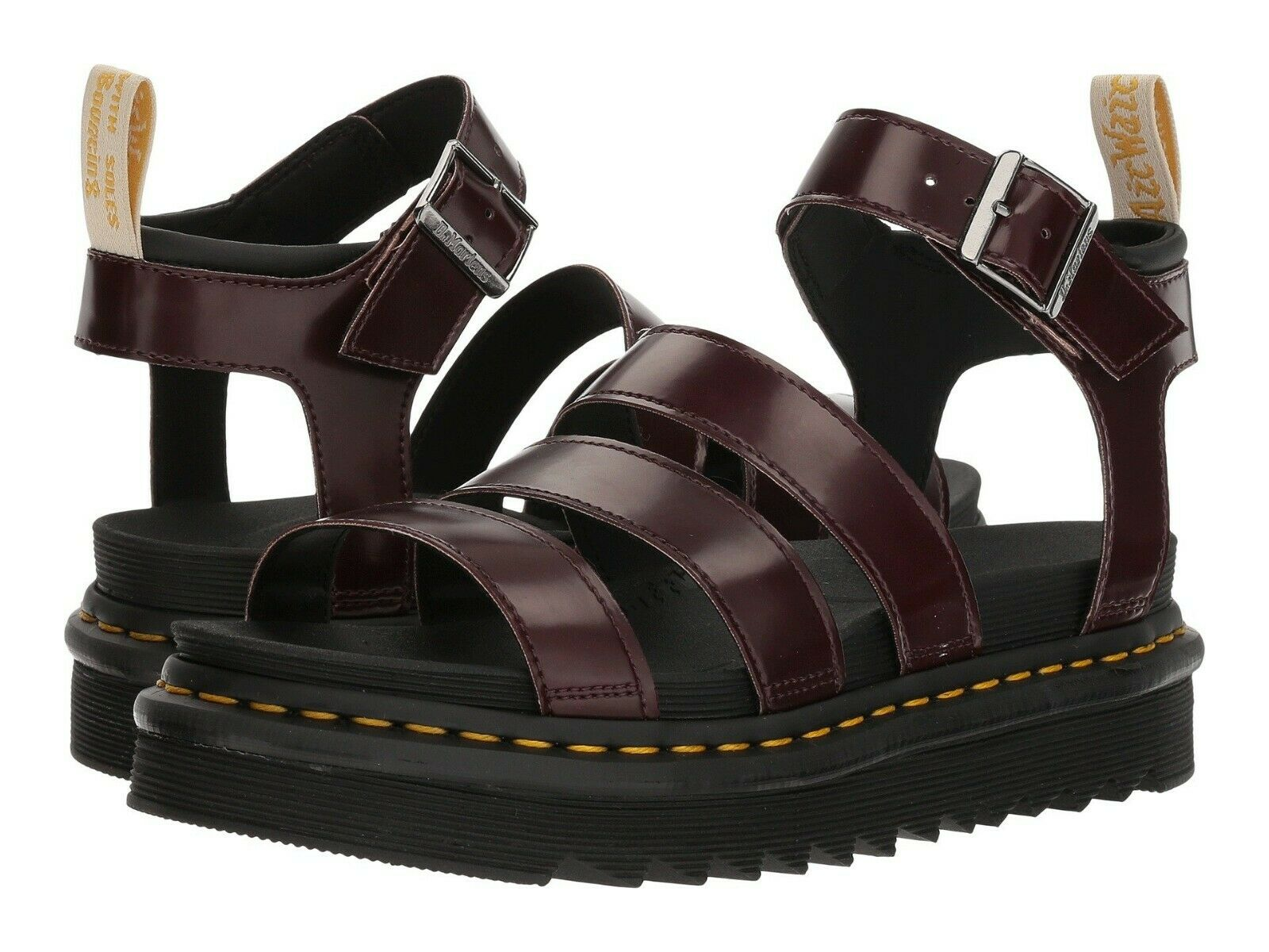 Women's Shoes Dr. Martens BLAIRE VEGAN Casual Sandals 23807600 CHERRY RED