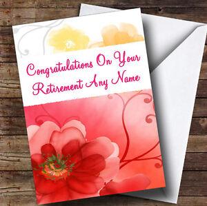 Flower personalised retirement greetings card ebay image is loading flower personalised retirement greetings card m4hsunfo Image collections