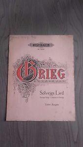 Edvard Grieg Spartito Solvejgs Lied Einfach Edizione Lipsia Be