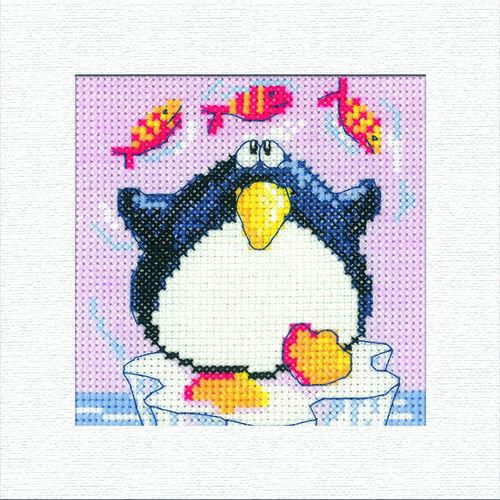 Penguin Square Christmas Card Cross Stitch Kit