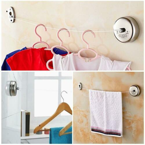 Retractable Adjustable Stainless Steel Clothesline Hanger Rope for Bathroom