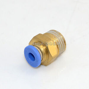 Pneumatic-ONE-Push-In-Touch-to-Connect-Straight-male-Threaded-1-4-034-Tube-OD-4mm
