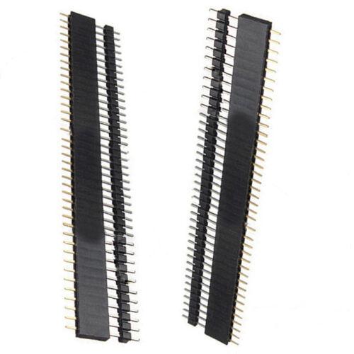 2Pairs 1X40Pin Row PCB Headers Male+Female Pins Sockets Strip 2.54mm,Arduino DIY