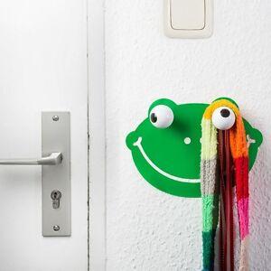 Children-039-s-COAT-HOOKS-Froggie-Frog-Wall-Art-Sticker-amp-2-wood-hooks-HOOKLYS