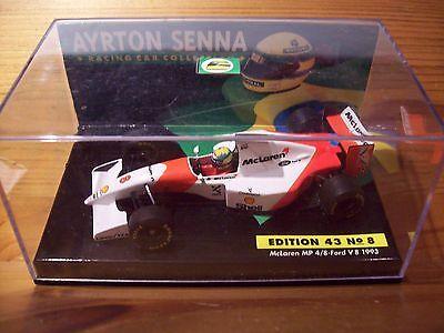 1/43 AYRTON SENNA No 08 MCLAREN MP4/8 FORD V8 1993 + COVER