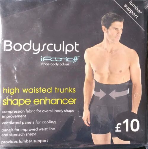 Da Uomo bodysculpt vita alta BAULI forma Enhancer Supporto Lombare Nero il venditore Regno Unito