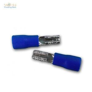 50 Kabelschuhe Flachsteckhülsen blau 2,8x0,8mm für 1,5-2,5mm² Kabelschuh Buchse