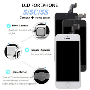 OEM For iPhone 5C 5S 5 SE LCD Touch Screen Display Digitizer+Home ... 35109b0235