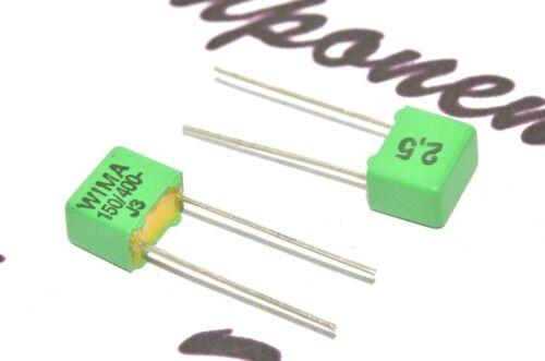 400 V 2.5/% Pitch 10pcs-Wima FKP2 150P 5 mm Condensateur 150pF 0.15nF