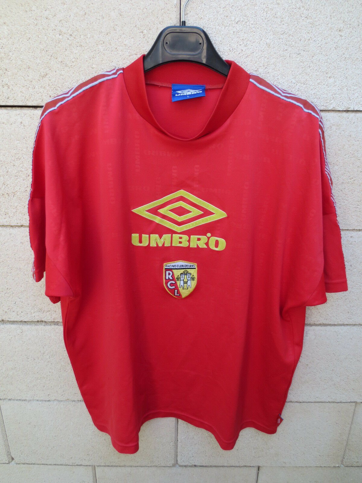VINTAGE Maillot RC LENS entrainement Umbro collector entrainement LENS football L ancien rouge bda335