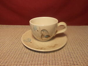 Vintage Red Wing China Bob White Pattern Cup Saucer Set Ebay