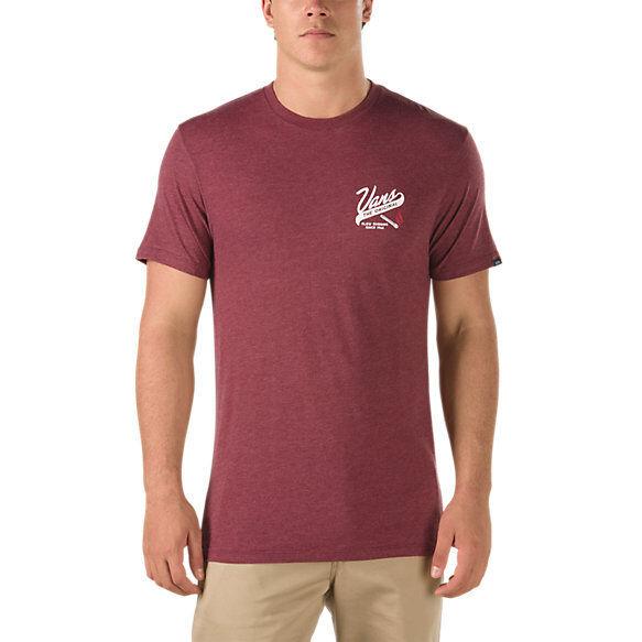 248ab1f400 VANS OTW (slow Burn) Skate Tee T Shirt Burgundy Heather Sz Mens XXL 2xl for  sale online