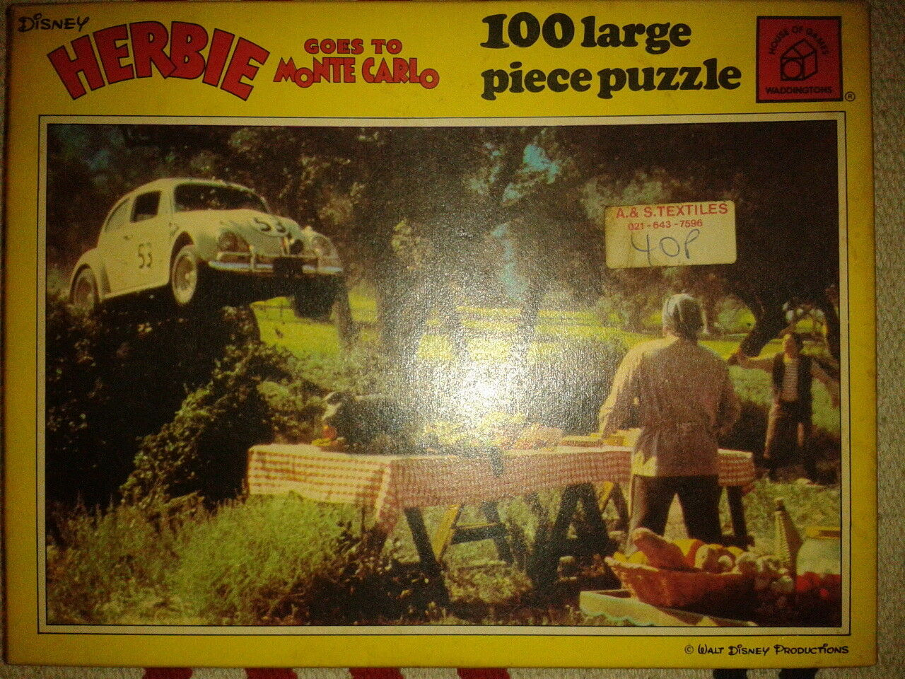 Three Jig-Saw Puzzles, Herbie Goes to Monte Carlo.  VW Volkswagen Beetle.