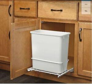 plastic garbage bin rev a shelf 20 quart for pull out trash can under sink ebay. Black Bedroom Furniture Sets. Home Design Ideas