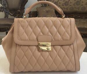 Vera Bradley Quilted Leather Stella Satchel Bag In Nude Ebay