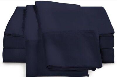 AnpassungsfäHig Lux Impressions 100% Ägyptische Baumwolle 1000tc ~marineblau~ Non-standard 188cm Bettwäsche