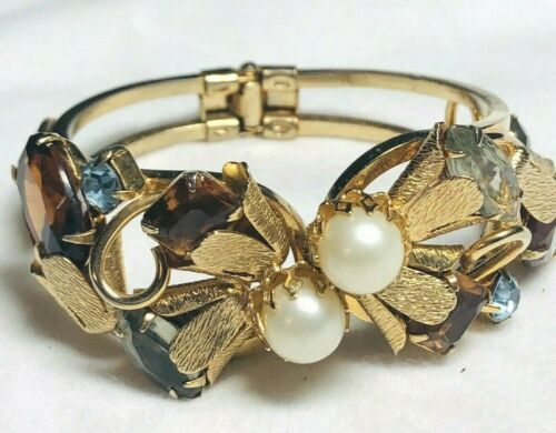 Incredible Vintage Cuff Bracelet Textured Metal Fa