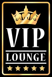 Vip-Lounge-Tin-Sign-Shield-Arched-Metal-7-7-8x11-13-16in-FA1192