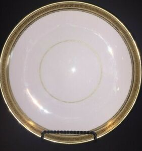 Vintage-Cauldon-Ware-Replacement-Plate-Cream-Gold-Gilding-Black-Greek-Key