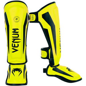 Venum Kid's Elite MMA Shin Instep Guards - Small - Neo Yellow