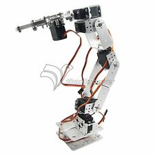 Diy Robot Smart Robot Rot2u 6dof Aluminium Robot Arm Clamp Claw Mount Kit With Servos For Arduino-silver Toys & Hobbies Programmable Toys