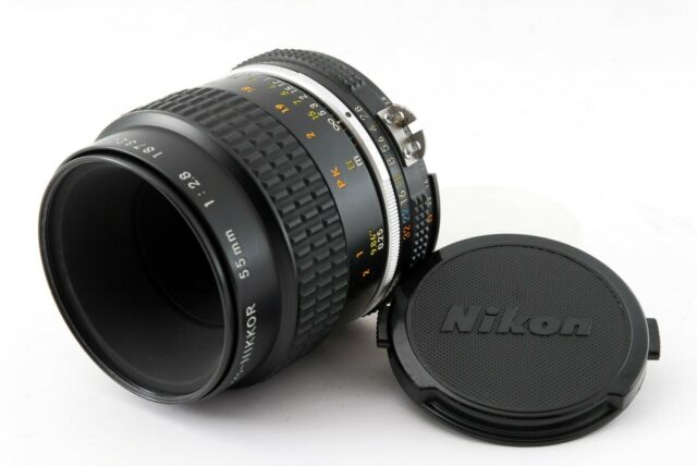 [Exc+3] Nikon Ai-s Micro Nikkor 55mm f/2.8 MF Lens Ais from Japan 721254