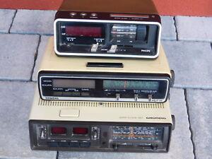 lot hs retro vintage radio reveil alarm clock philips grundig siemens wecker alt ebay. Black Bedroom Furniture Sets. Home Design Ideas