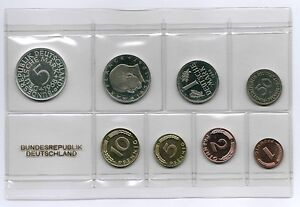 1Pf. To 5 DM 1968 G/ Frg / Course Set Proof Edition Only 3700 Piece