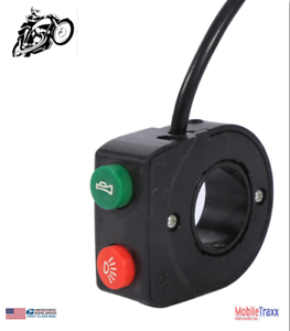 7-8-034-12V-Motorcycle-Horn-Head-Light-Push-Button-Switch-Black