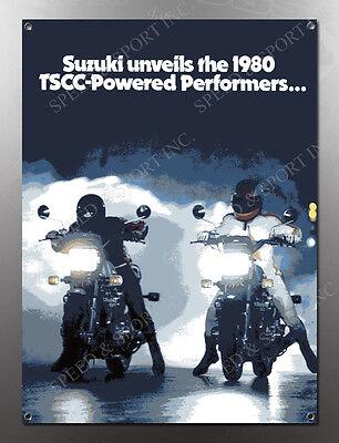 VINTAGE SUZUKI 1980 GS750L IMAGE BANNER NOS IMAGE REPRODUCTION