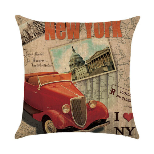 18/'/' Vintage Style Pillowcases Living Room Throw Cushion Cases Cushion Cover