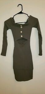 ca68d18ce2a Women s Junior SZ XS Strapless Rue 21 DRESS Olive Green with Buttons ...