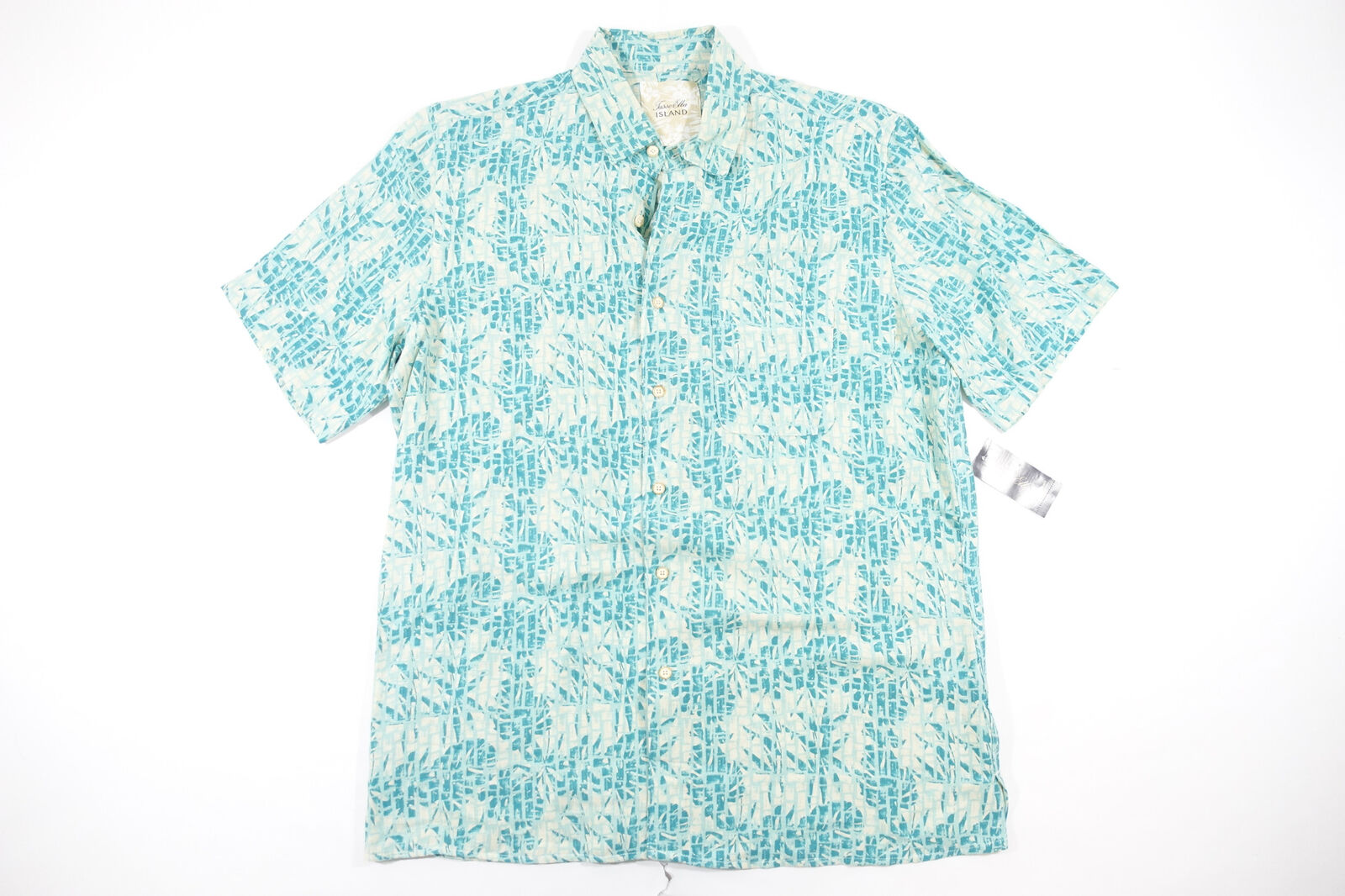 76a75c03ba17 TASSO ELBA ISLAND TROPICAL HAWAIIAN LINEN SHORT SLEEVE BUTTON FRONT SHIRT  SILK nxnqqk1931-Casual Shirts   Tops