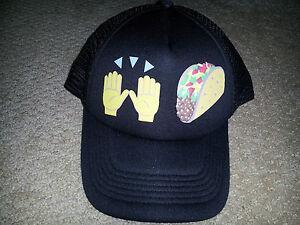 Hands up   Taco Emoji Trucker Hat Mesh Snapback Baseball Cap ... 1e0615aaafa