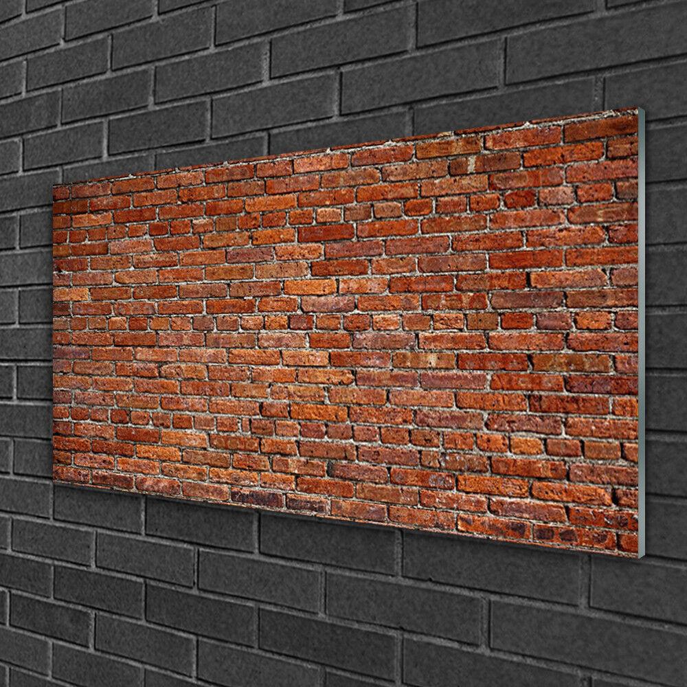 Image sur verre Tableau Impression 100x50 Kunst Briques