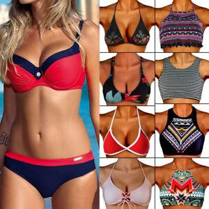 f687531177e Womens Bikini Set Bandage Push-Up Padded Swimwear Swimsuit Bathing ...