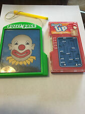Vintage Fuzzy Face Clown & Tommy Pocket Game Time's Up Children's Classic Toy