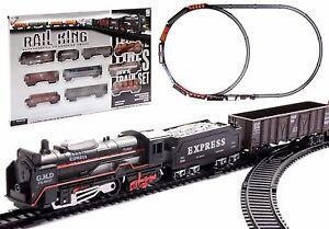 Startersets Kinder Eisenbahn Zug Set Neu Batteriebetrieben Starterset Lok Mit Schienen Spielzeug