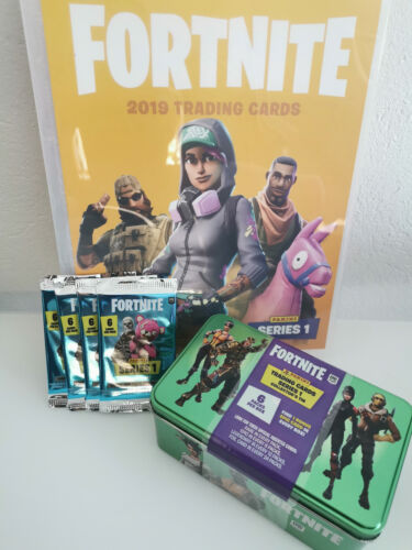 Fortnite Sammelkarten Serie 1 Mega Blaster Box Tin Starter Mappe Booster Cards
