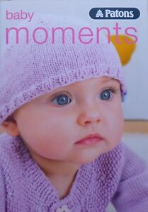Babies Knitting Pattern Book Patons Baby Moments 4ply
