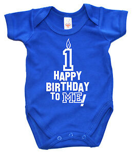 Image Is Loading Baby Birthday Bodysuit 034 Happy To Me