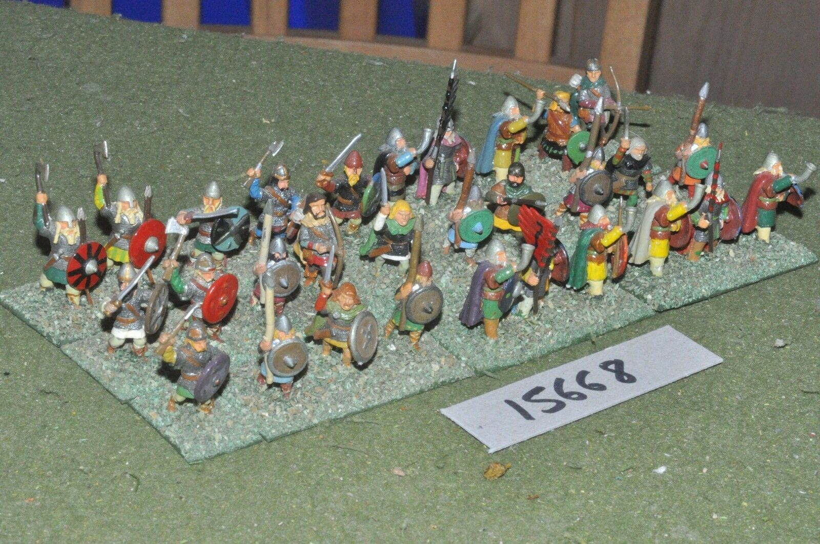 25mm dark ages   viking - warband 30 figs - inf (15668)