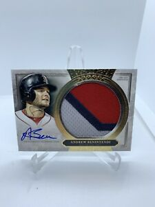 2020 Topps Five Star Andrew Benintendi 3 Color Jumbo Patch 8/25 Auto Red Sox