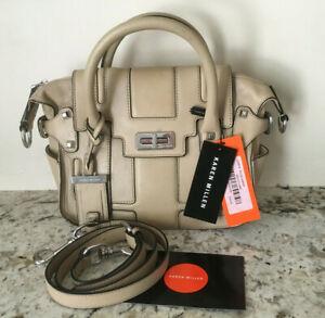 Karen-Millen-Turnlock-satchel-Leather-Handbag