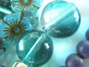 Zweifarbige Seafoam&light Gray Lido Bicolor Round Murano-perle-12mm- Schmuckherstellung Einzelne Perlen & Lose Perlen Angebot
