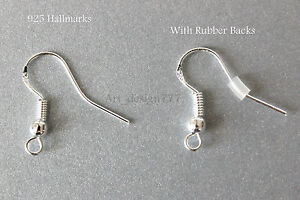 50pcs-925-Stamped-Silver-Earring-Fish-Hooks-Ear-wires-Findings-With-Ball
