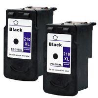 2PKs Canon PG-210XL Black Ink Cartridge For PIXMA MP240 MP250 MP460 MP490 MP499