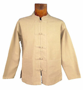 chemise homme chinoise paisse col mao nepal veste kung fu. Black Bedroom Furniture Sets. Home Design Ideas
